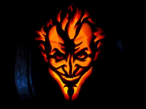 Halloween jack o lantern for Extreme pumpkin carving templates