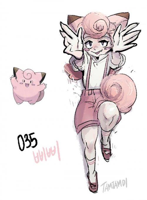 035 Pokemon Gijinka Clefairy Images