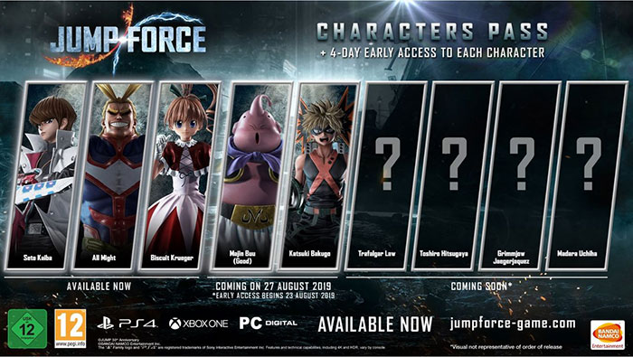 Jump Force  Kaiba Seto - All Might - Biscuit Krueger - Kane - Galena