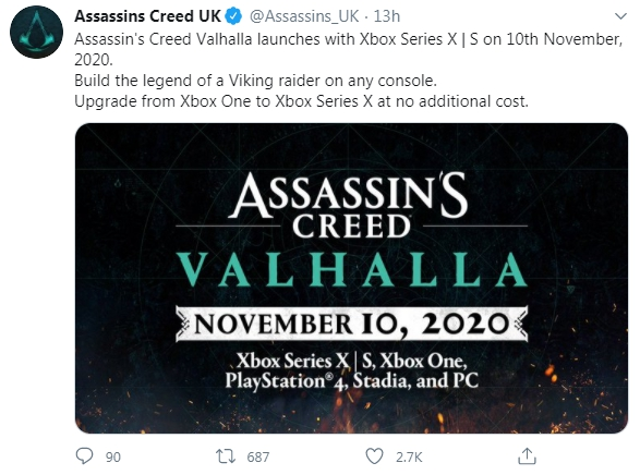 Assassin's Creed Valhalla, Xbox One, Xbox Series SX, PS4, PC